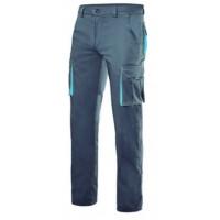 Pantalon stretch multibosillos 103024S 8-5 gris/celeste VELILLA
