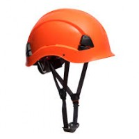 Casco Height Endurance PS53ORR Naranja con barboquejo PORTWEST