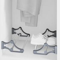 Emuca zapatero para interior de armario,regulable, 560-1000 mm, Acero y plástico, Gris metalizado