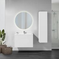 Emuca Espejo de baño Cassiopeia con iluminación LED decorativa Ø60cm