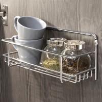 Emuca Especiero para pared o mueble de cocina, 3 bandejas, acero, cromado.
