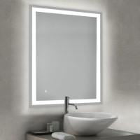 Emuca Espejo de baño Hercules con iluminación LED frontal y decorativa 60x80cm