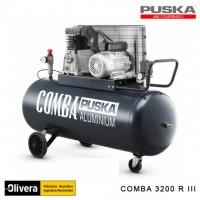 Compresor comba 3200 iii 3hp 200lt trifasico c/ruedas PUSKA