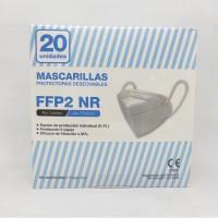 Mascarilla FFP2 marcado CE bolsa individual (goma orejas) (20 unidades) LUYAO
