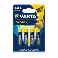 Pila alcalina Energy LR03 AAA blister 4 pilas VARTA
