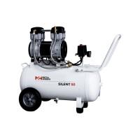 Compresor silent-50 (9bar-240l/min) 2cv 50lts.sin aceite METALWORKS