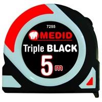 Flexometro triple black 3 mtx16mm c/negra MEDID