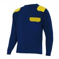 Jersey punto cuello redondo serie 100 1-17 (azul/amarillo) VELILLA