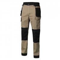 Pantalon Canvas Strech con bolsillos beige arena/negro VELILLA